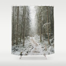 For now I am Winter - Landscape photography Shower Curtain