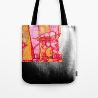 30 seconds to mars Tote Bags featuring 30 by Pedro Ossa