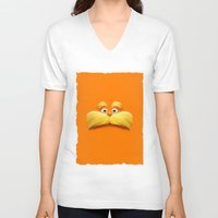 daenerys V-neck T-shirts featuring THE LORAX by Inara