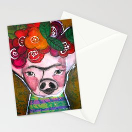 Frida Pig Stationery Cards