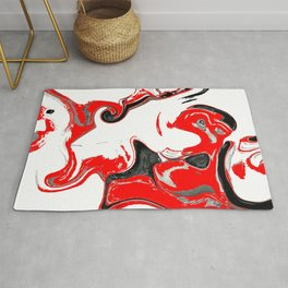 contradiction abstract digital painting Rug