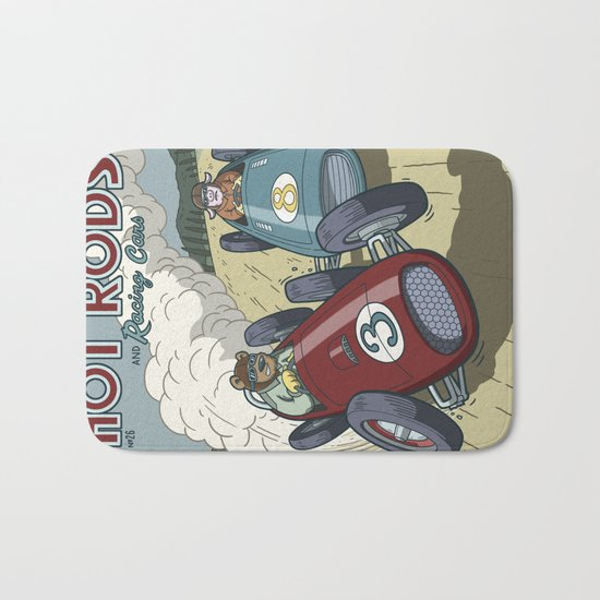 Hot Rods and Racing Cars No.26 Bath Mat