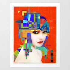 Nouveau Girl 2 Art Print