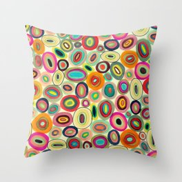 running in circles Throw Pillow