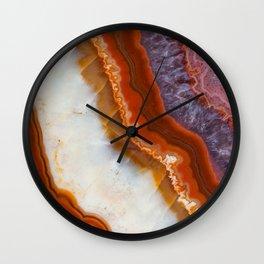 Rusty Amethyst Agate Wall Clock