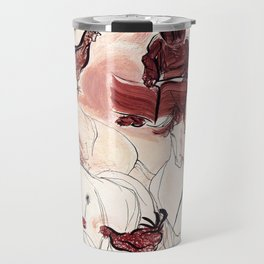 Children Playing Horses Chicken Composition Painting Travel Mug