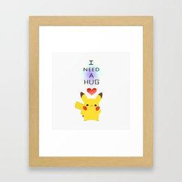 pikapika chu - hug Framed Art Print