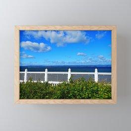 Shoreline Fence Framed Mini Art Print