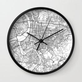 Taipei White Map Wall Clock