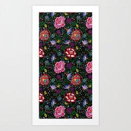 Flores de Arte Art Print