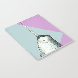 Narwhal Geometric Bright and Colorful Notebook