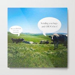 Cows Talking by Christie Olstad Metal Print