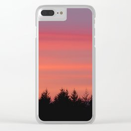 Fire Sky Over The Forest - 76/365 Clear iPhone Case