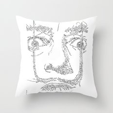 Salvador Dalì WordsPortrait Throw Pillow