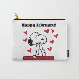 Snoopy - Happy February Carry-All Pouch