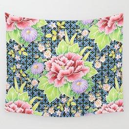 Kimono Bouquet Brocade Wall Tapestry