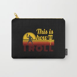 This is How I Roll Retro Disc Golf Carry-All Pouch