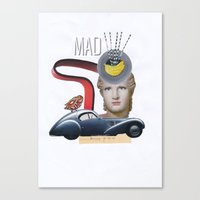 mad Canvas Prints featuring mad by fromdelphine