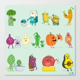 Baby Veggies Canvas Print