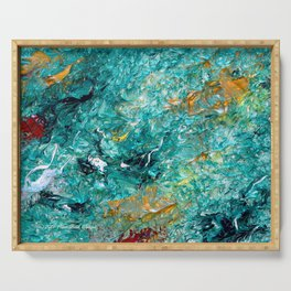 """Leprechaun's Koi Pond"" Painting Serving Tray"