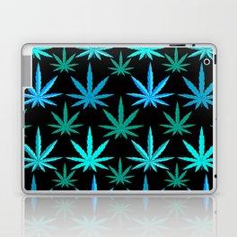 Marijuana Teal Turquoise Weed Laptop & iPad Skin