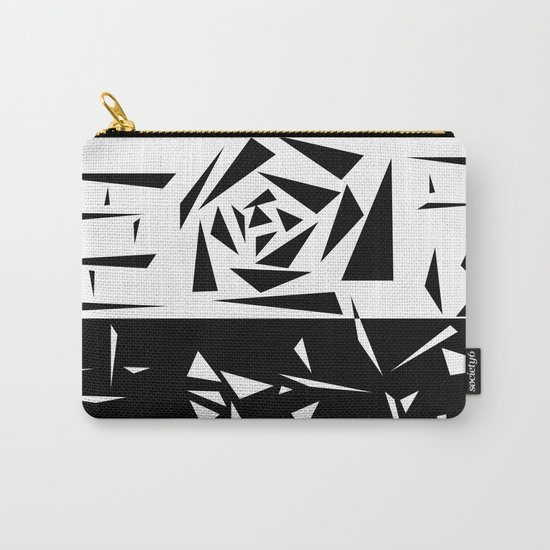 Abstract rose. black and white . 1 Carry-All Pouch