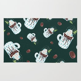 Hot chocolate pattern 2 Rug