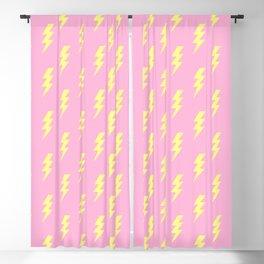 Lightning Bolt Pattern Thunderbolt Lightning Bolt Print Thunder Pattern Pink and Yellow Colors Blackout Curtain