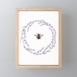 Lavender Bee Framed Mini Art Print