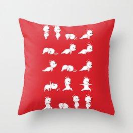 Yoga Bear - Polar Bear Throw Pillow