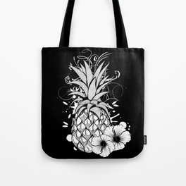 Pineapple with hibiscus blossom Tote Bag