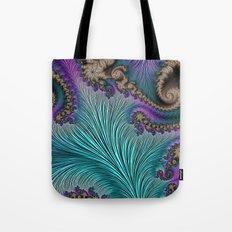 Aqua Fronds Tote Bag