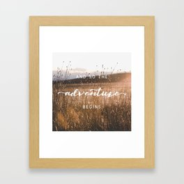 And So The Adventure Begins - Rustic Western Framed Art Print