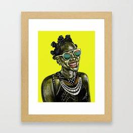 Bantu Knots Framed Art Print
