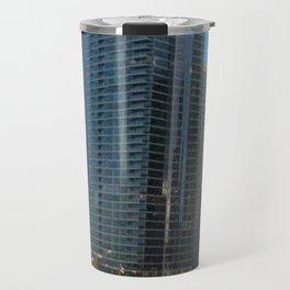 Chicago Skyline, Skyscrapers, Sunset Travel Mug