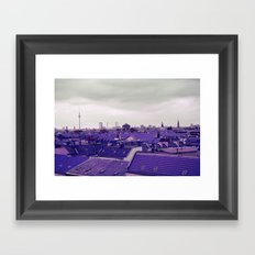 Berlin-Roofgarden's View Framed Art Print