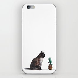 cat and pineapple iPhone Skin