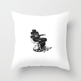 Plantilla Silla Moderna Peluqueria Vintage Throw Pillow