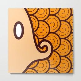 Niji Sakana (Orange) Metal Print