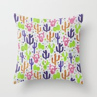 succulents Throw Pillows featuring Succulents by 83 Oranges™
