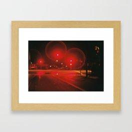 Red Lights Framed Art Print