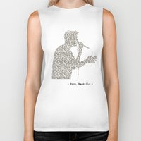 bastille Biker Tanks featuring Bastille Poet Lyrics by OhHolyBastille