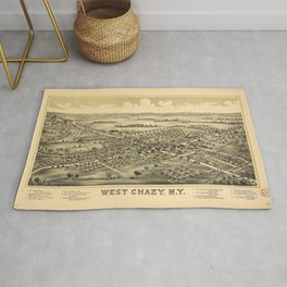 Aerial View of West Chazy, New York (1899) Rug