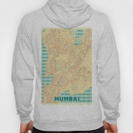Mumbai Map Retro Hoody