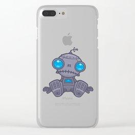Sad Robot Clear iPhone Case