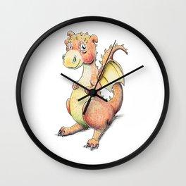 Little Orange Dragon Wall Clock