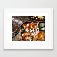 persian Framed Art Prints featuring PERSIAN TIGER by ShekariArt