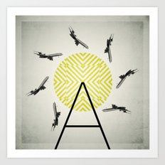 Flywheel (A is for Airplane) Art Print