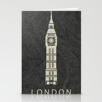 london Stationery Cards featuring London by NJ-Illustrations