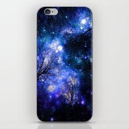 Black Trees Indigo Blue Teal Green Space iPhone Skin